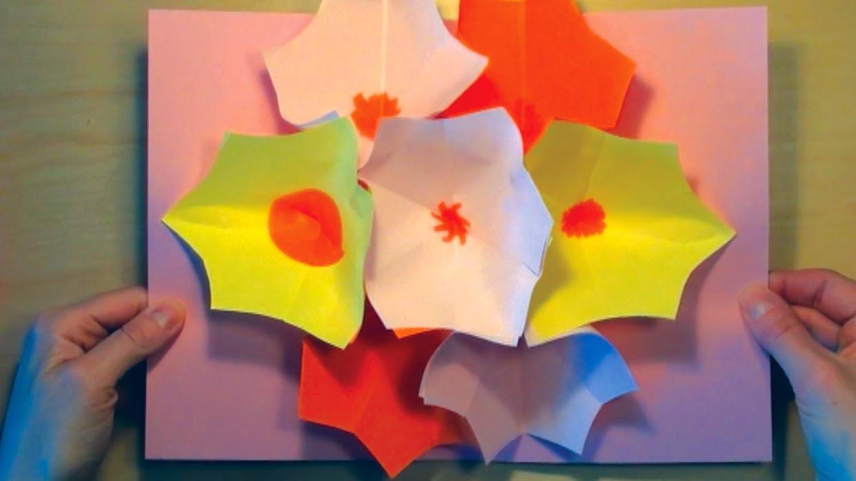 Blomster buket kort