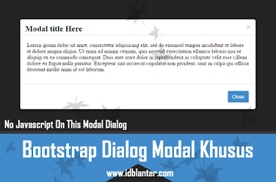 Bootstrap Dialog Modal Khusus