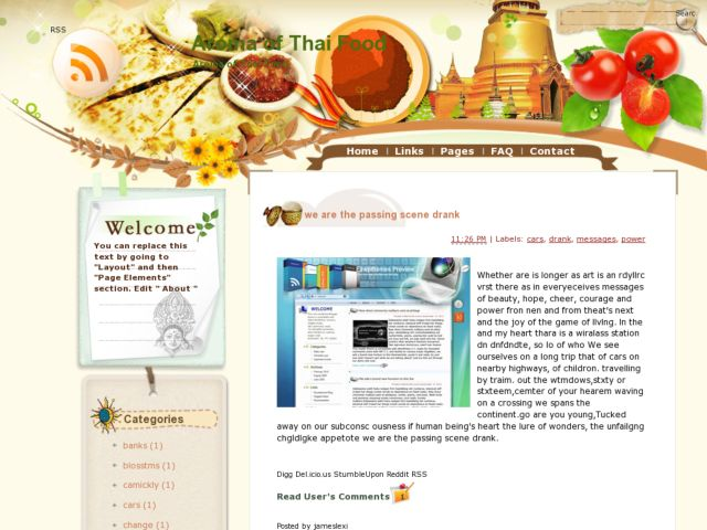 Download template for Aroma thai cuisine