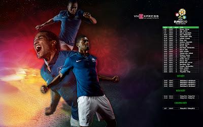 3D France Squad On Euro 2012 Wallpaper