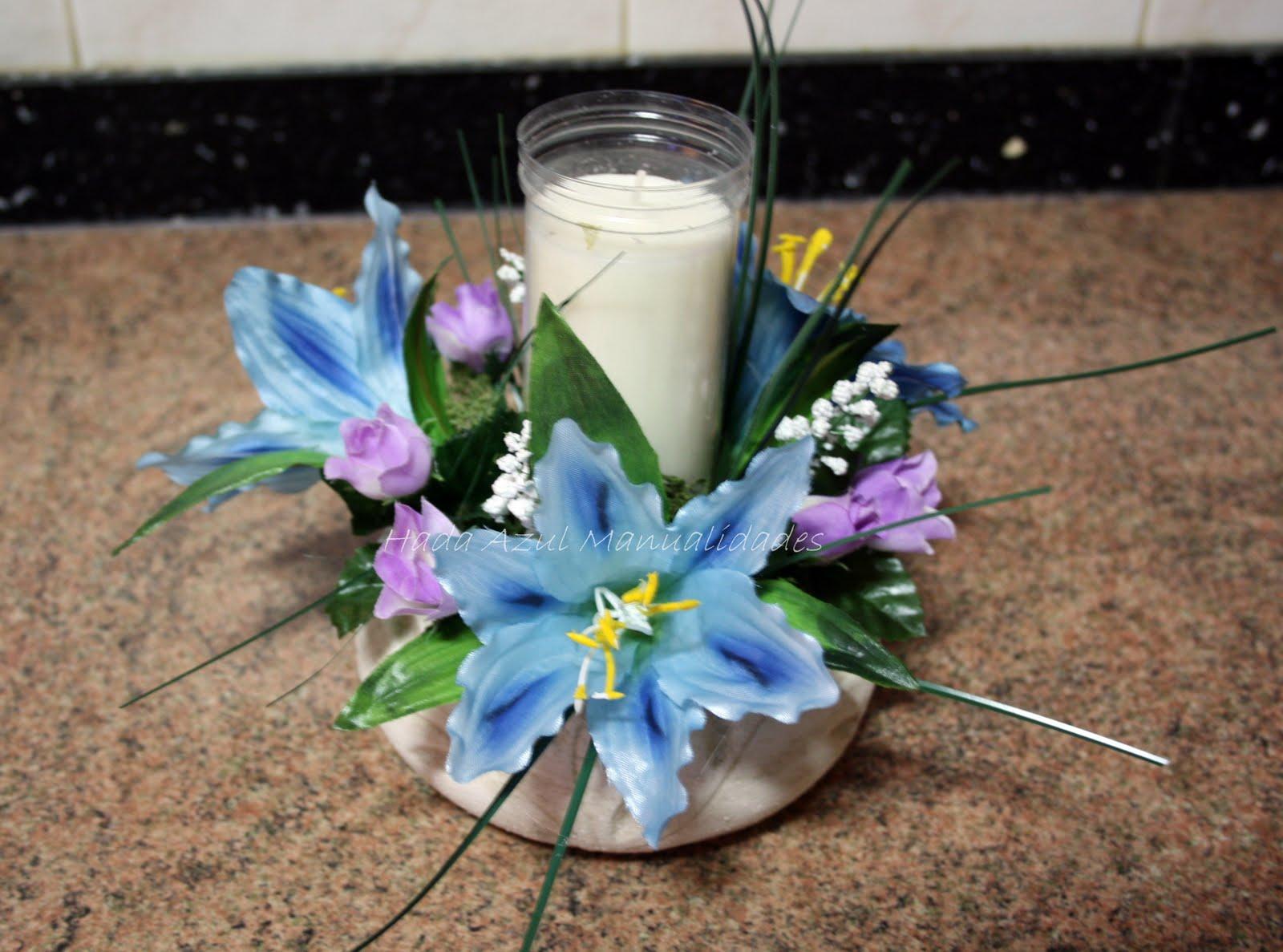 Ham artesan a hecha a mano varios - Centro de mesa con flores artificiales ...
