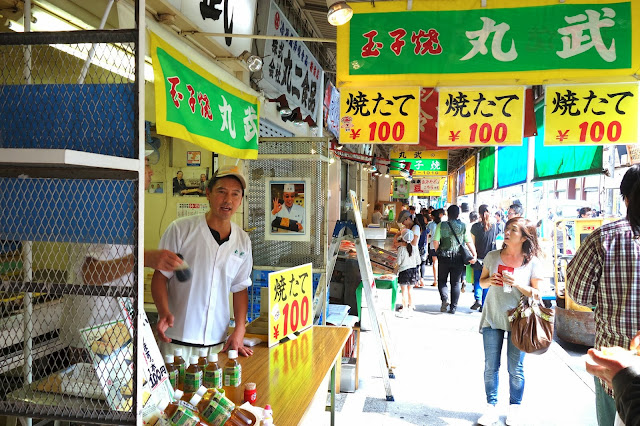 Tsukiji Fish market tokyo tamagoyaki fried egg omelette