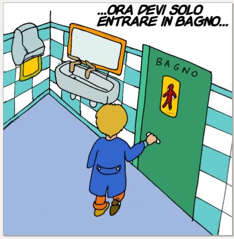 Storie sociali potrei andare in bagno per favore - Andare in bagno ...