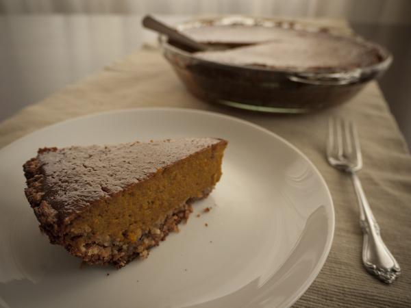 Pumpkin pie with Kabocha squash (Cucurbita maxima)