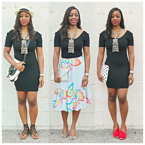 ldb, little black dress, how to wear a black dress, different ways to wear a black dress, short black dress, H&M black dress, statement necklace, black fashion blogger, black style blogger, columbus blogger, ohio blogger, jewels with style