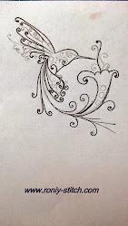 Птичка счастья -вышиваем с Розой