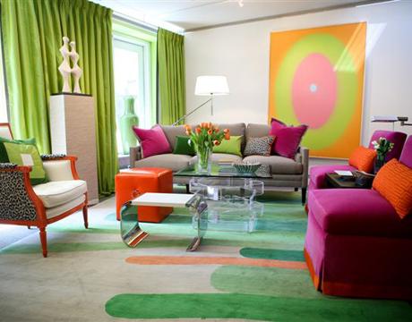 Dise os salas modernas con muebles coloridos ideas para - Disenos de muebles para sala ...