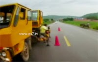 Chinese driver's miraculous escape from death on camera