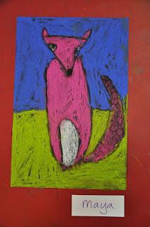 Cute Pink Fox Kindergarten Art Project