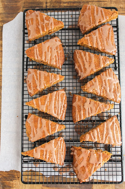 Gingerbread Scones with Cinnamon Glaze | The Chef Next Door