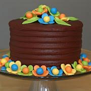 Flowers and Truffle Cake