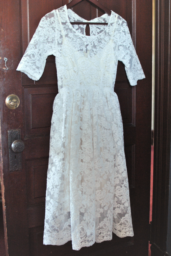 lace reception dress