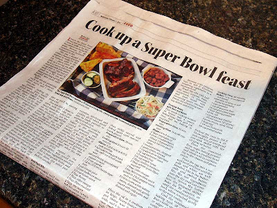 The local paper had an article suggesting the exact supper we had planned.