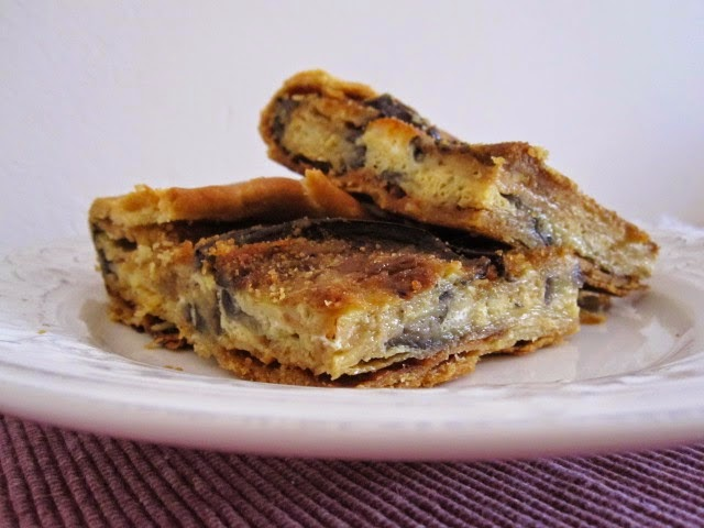 Eggplant tart from Catania, Mediterranean Diet, Italian recipe, Catania recipe,