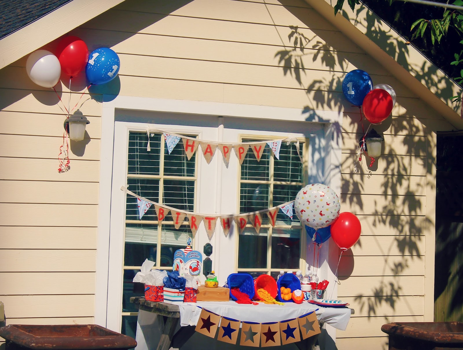 Cute and peculiar sail away birthday decorations for Terrace party decoration
