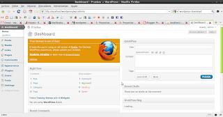 Imagen de la página de inicio de wordpress