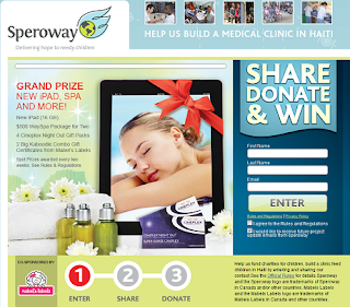 Speroway asks you to Share Donate and Win! 