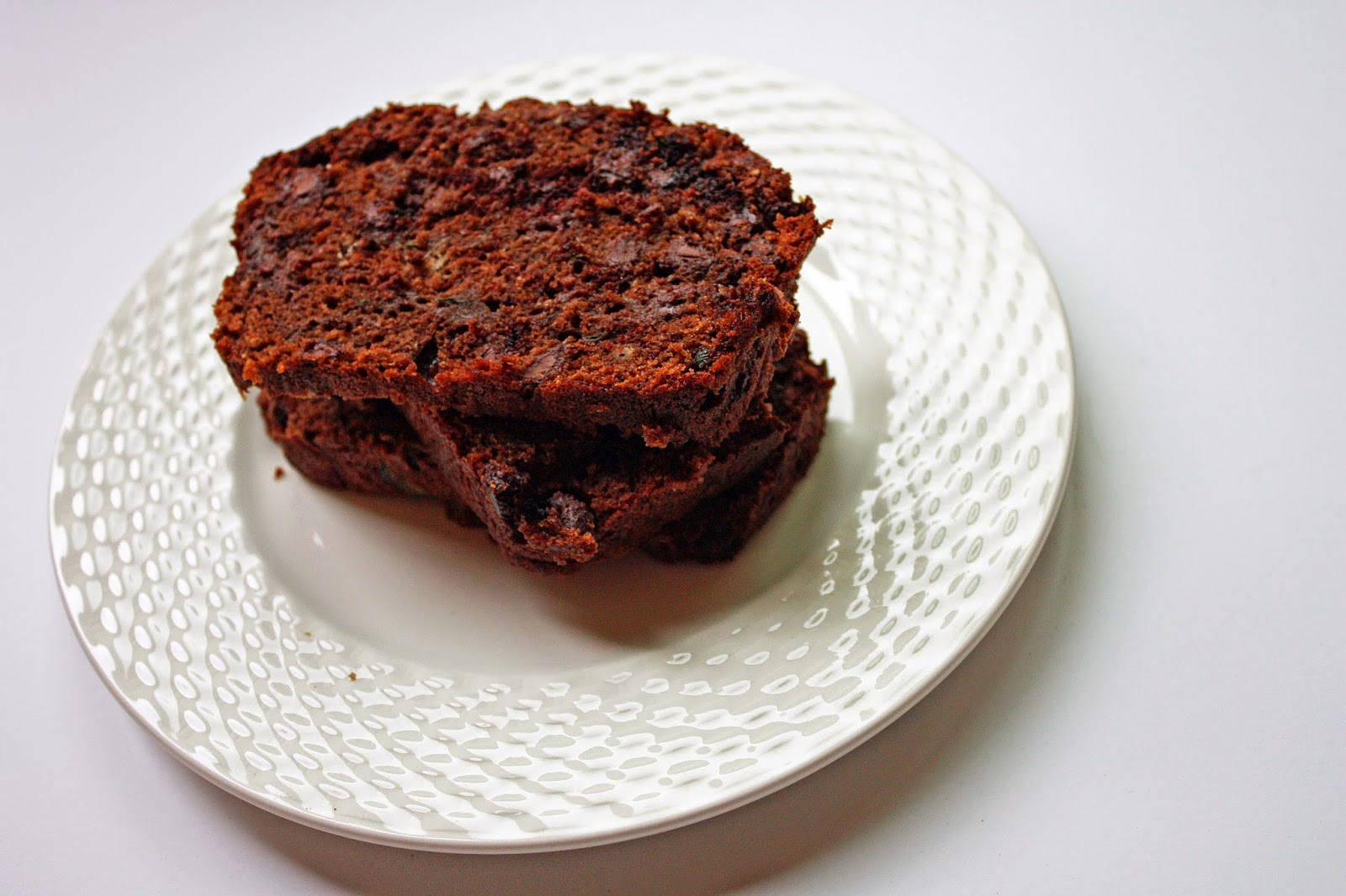 double chocolate zucchini bread is vegan yum