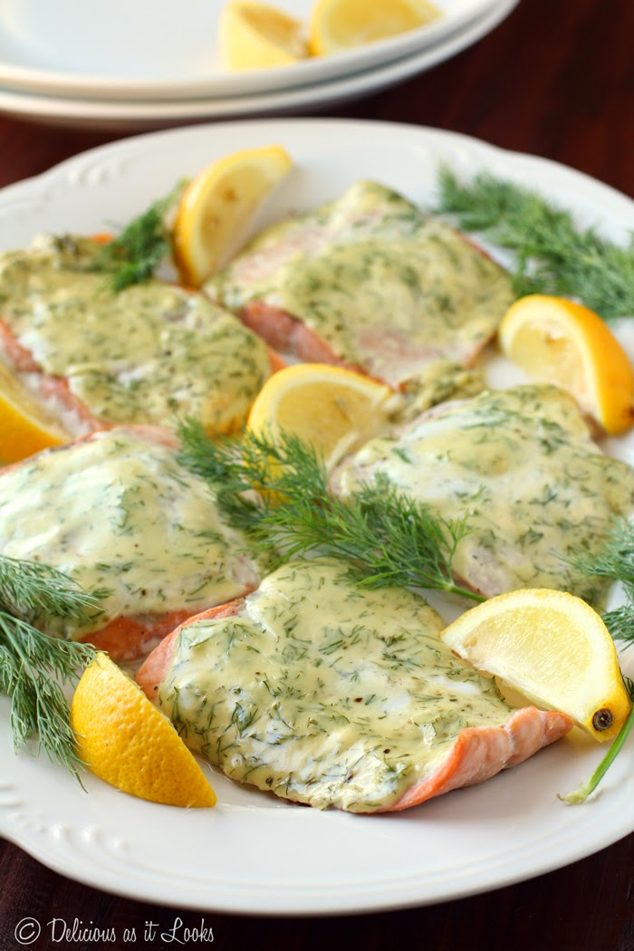 Low-FODMAP Recipe Roundup: Friday Fish Fry {Creamy Dijon & Dill Salmon}  /  Delicious as it Looks