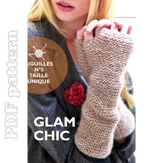 Easy Fingerless Gloves English Knitting Pattern PDF