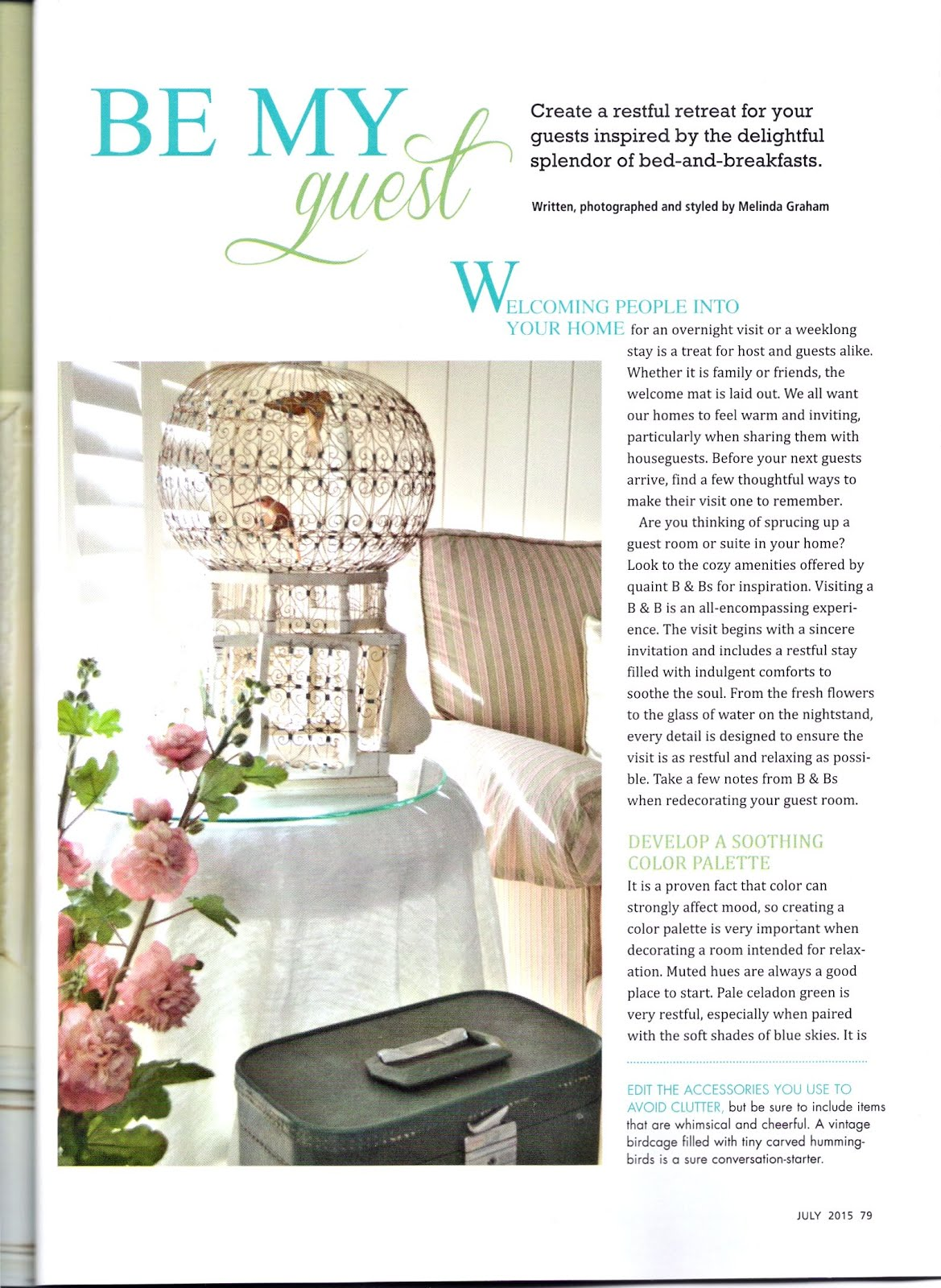 Romantic Homes July 2015
