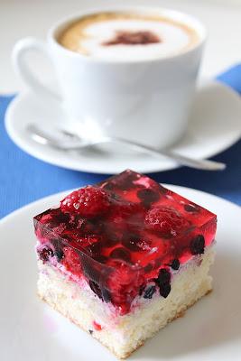 Ciasto z jagodami i malinami