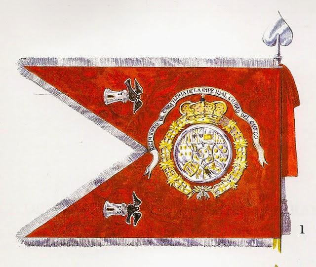 Banderín del Regimiento de Caballería de la Imperial Ciudad de Cuzco