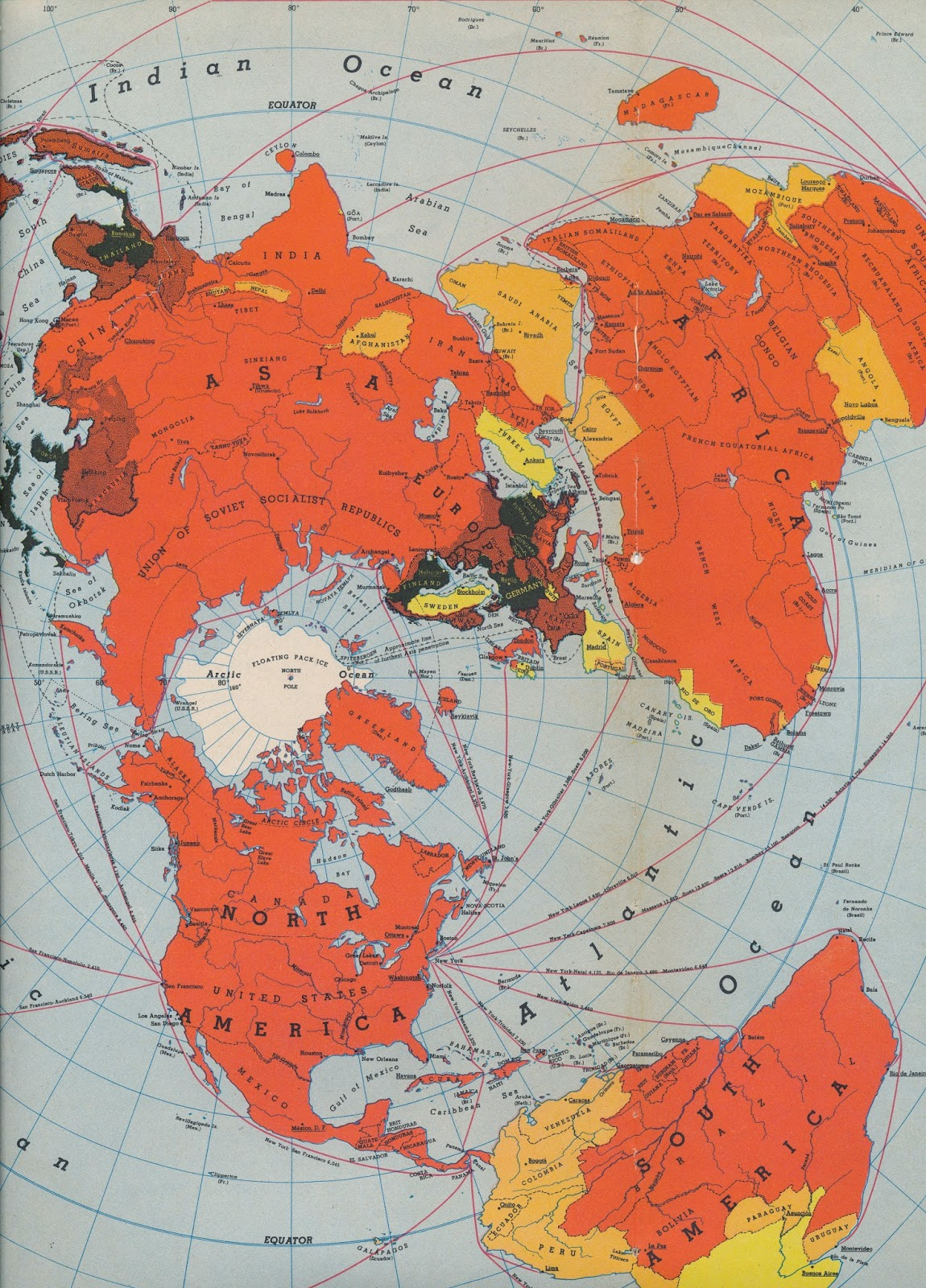one world one war the editors note is in part a war map it shows the world war ii line up of nations and it traces the battlefronts and supply lines