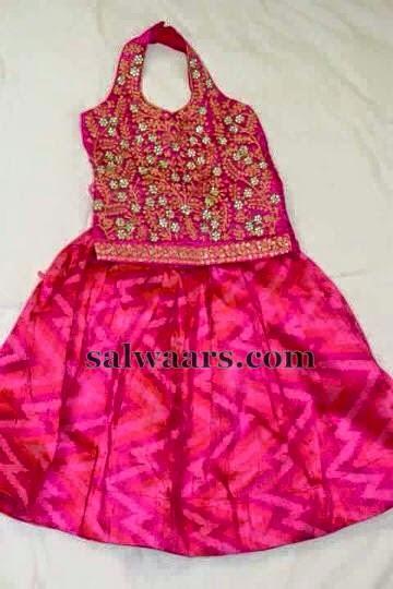 Bandhini printed Pink Lehenga