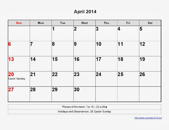 Results Calendar April : Printable fiscal calendar april search results