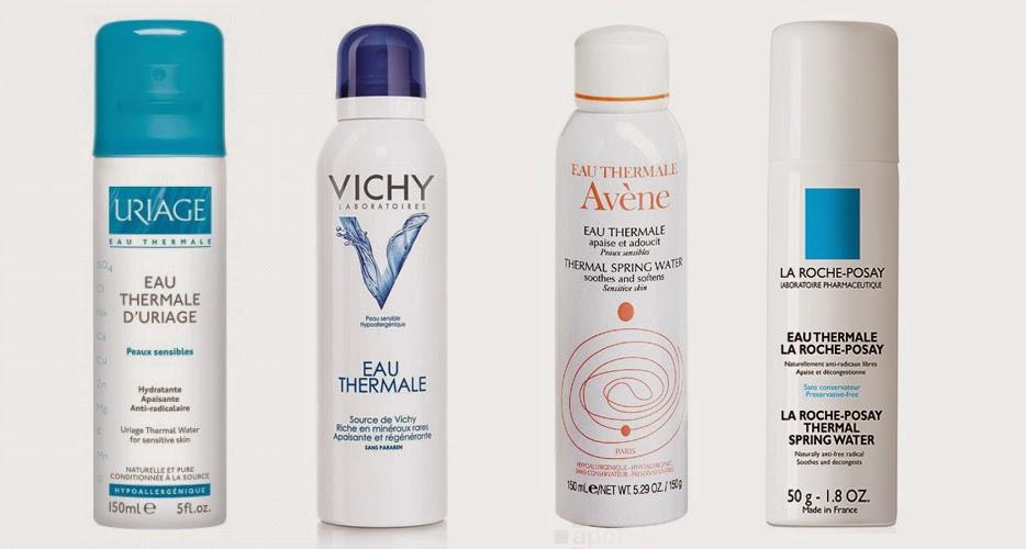 Aguas termales. Uriage, La Roche Posay, Avene y Vichy.