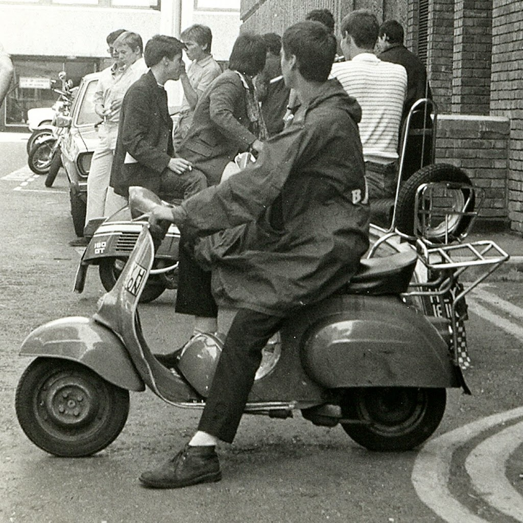 Mods On Scooters In London 1979 Vintage Everyday