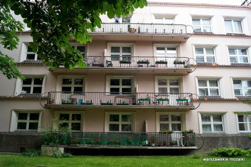 balkony Warszawa warszawskie mozaiki Rakowiecka profesorowie