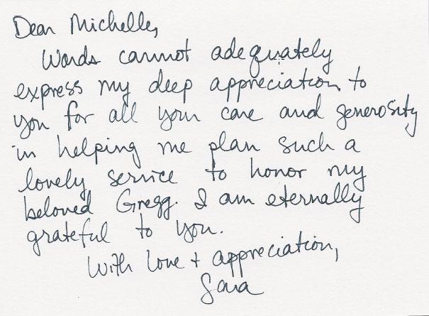 honor greg love letter