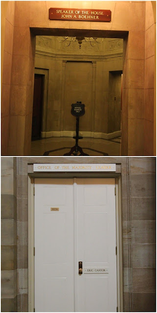 Found the offices of John Boehner and Eric Cantor at United States Capitol in Washington DC, USA