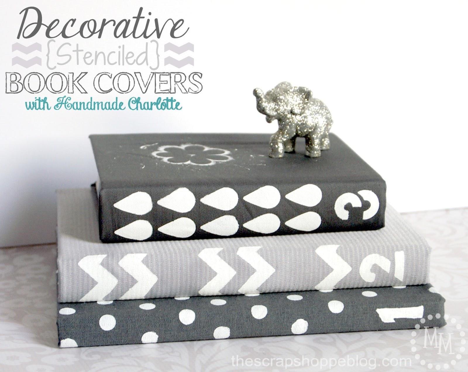 How To Make A Decorative Book Cover : Decorative stenciled book covers the scrap shoppe