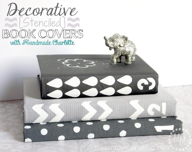 Decorative Book Cover Paper ~ Decorative stenciled book covers the scrap shoppe