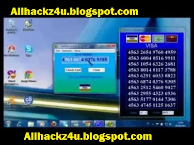 Cvv number credit valid card generate with