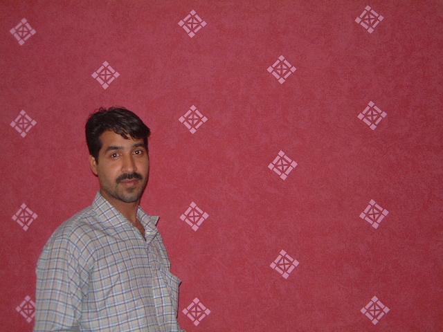 ARSLAN PAINTS OKARA: javid wall paint design on roof and wall