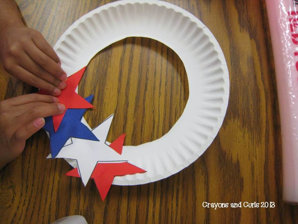 Crayons curls end of year behavior and patriotic craft for Americana crafts to make