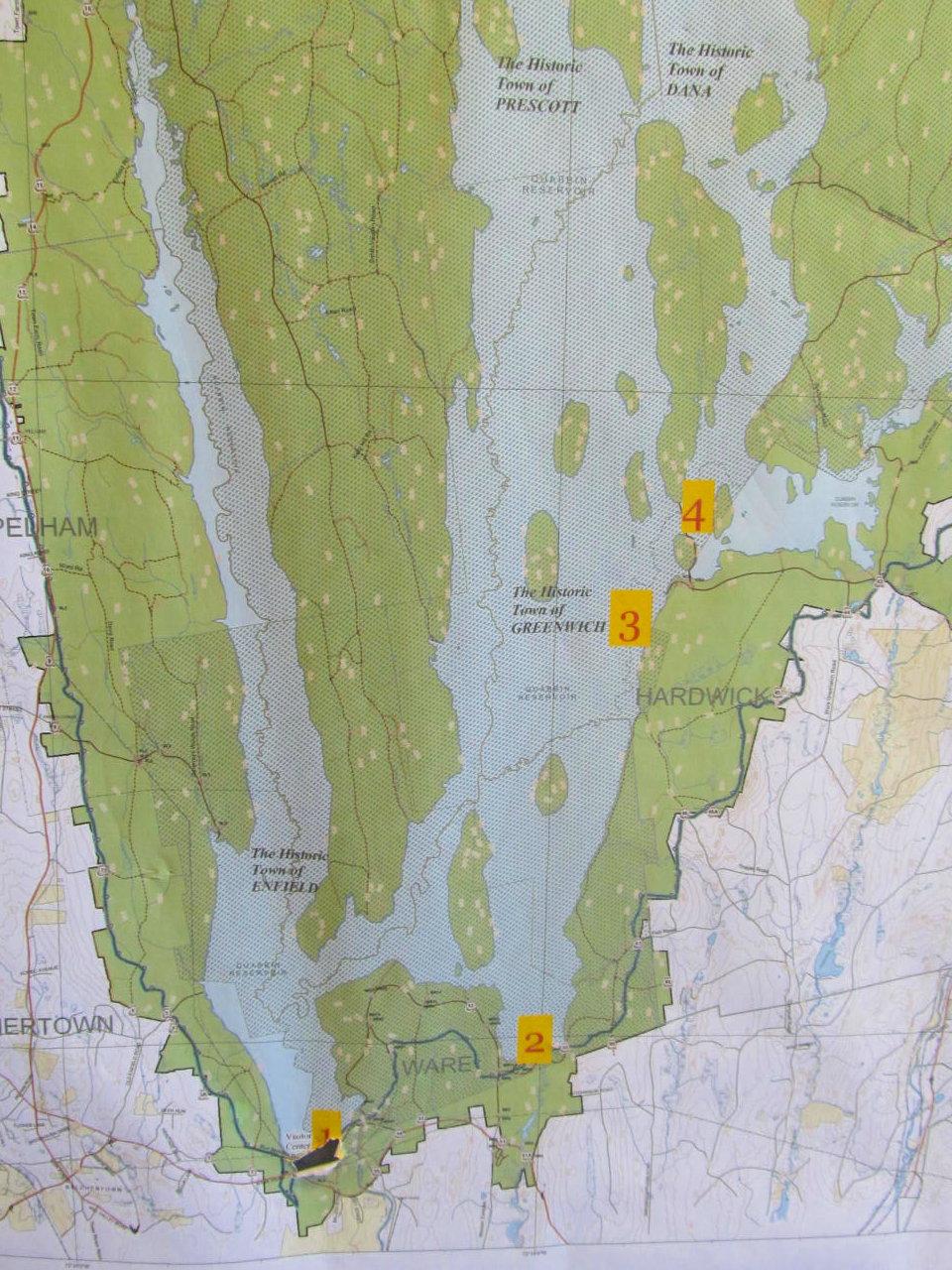 Quabbin Reservoir Map on