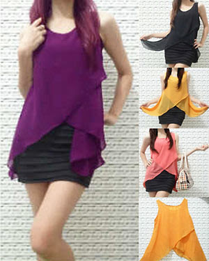 TBJS065 Fashion Sifon Blouse Model Zigzag ~ Jual Baju Korea Online