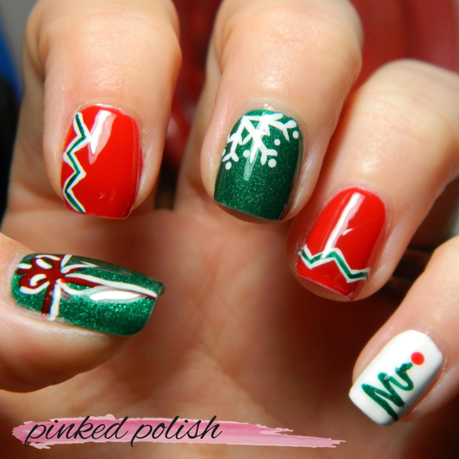 Nail Polish On Pinky Finger Meaning: Pinked Polish: Christmas Nails