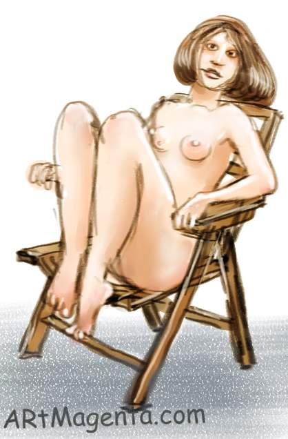 Rex chair is a figure drawing by artist and illustrator Artmagenta