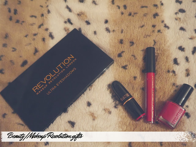 makeup revolution beyond flawless palette and red lipstick