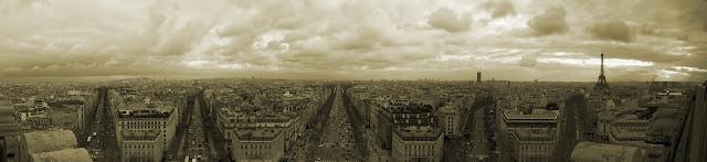 Paris view from Arc de Triomphe (Facing East)