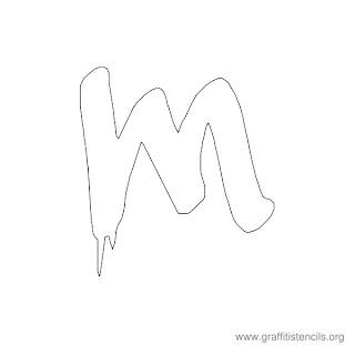 Graffiti Stencils Letters Graffiti alphabet m ( stencil