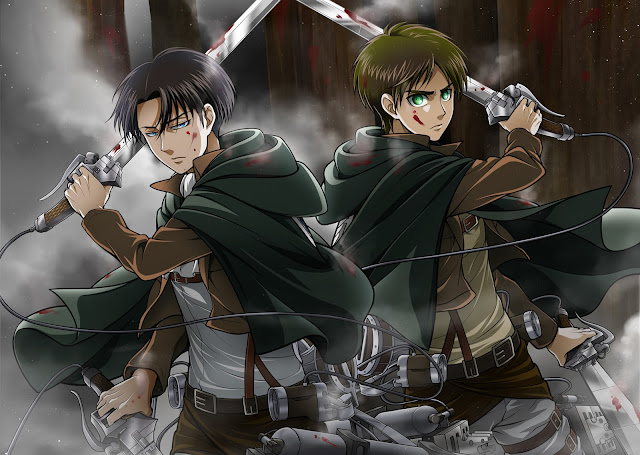 Levi Eren Jaeger Weapon Attack on Titan Shingeki no Kyojin Anime Male Guy Anime HD Wallpaper Backgrounds d2.
