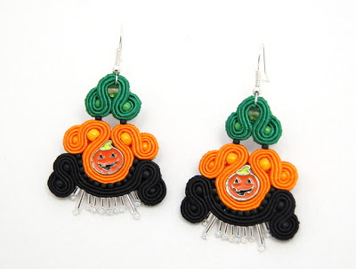sutasz kolczyki  soutache earrings 5