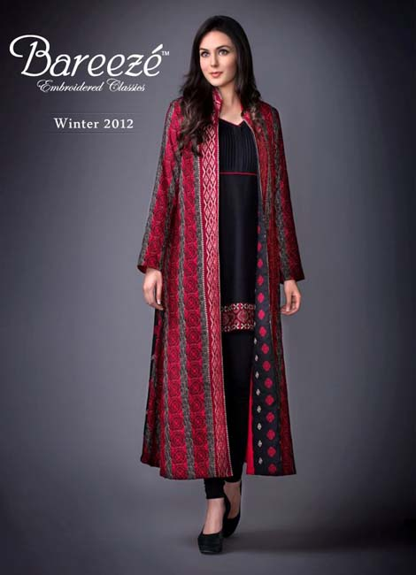 Long Shirts Fashion In Pakistan http://www.pakistanifashion9.com/2012/11/bareeze-latest-winter-dresses-for-women.html